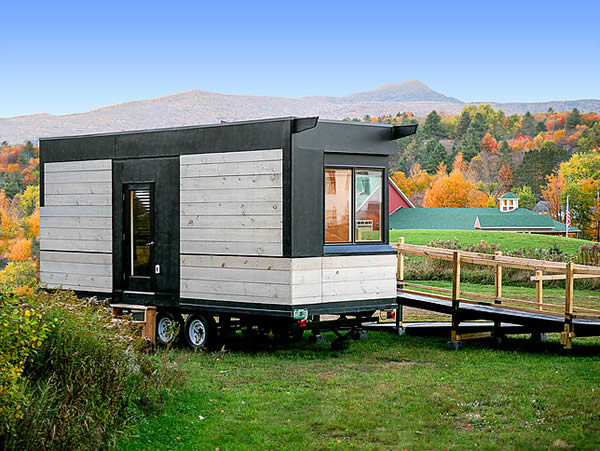 The Wheel Pad Tiny House on wheels exterior with ramp for wheelchairs