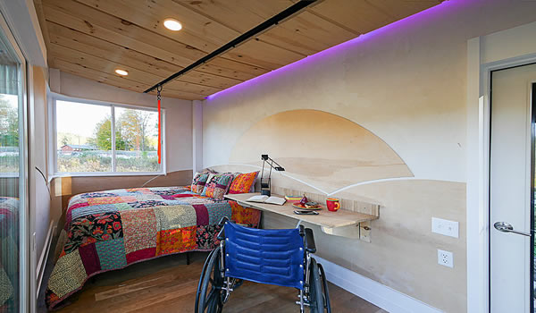 The Wheel Pad bedroom and home office