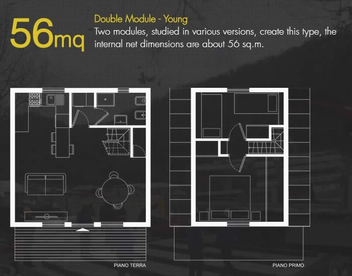 Tiny House Plans 56sqm - M.A.Di